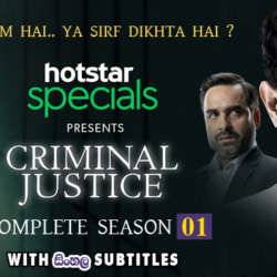 Criminal Justice S01 (2019) Complete 10 Episodes With Sinhala Subtitles