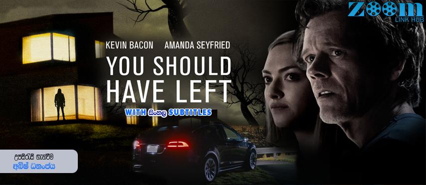 You Should Have Left (2020) With Sinhala Subtitles